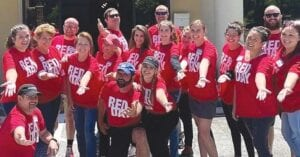 Some of Keller Williams' real estate agents attending RED Day at The Therapy Place